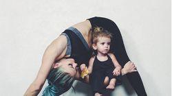 On peut faire du sport avec des enfants, cette maman yogi le