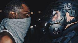 Cette photo des émeutes à Charlotte illustre parfaitement la