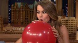 Quand Sofia Vergara prend de l'hélium, ça donne