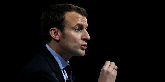 Emmanuel Macron en meeting le 14 janvier à Lille. REUTERS/Pascal