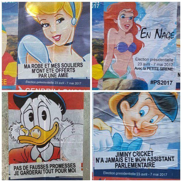 Dès avril 2017 les parisiens ont pu découvrir les affiches de campagne de Picsou, Cendrillon, Ariel,...