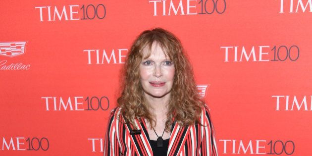 Mia Farrow attends the TIME 100 Gala, celebrating the 100 most influential people in the world, at Frederick...