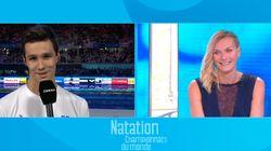 Le bizutage télévisé de ce nageur français a été un pur moment de