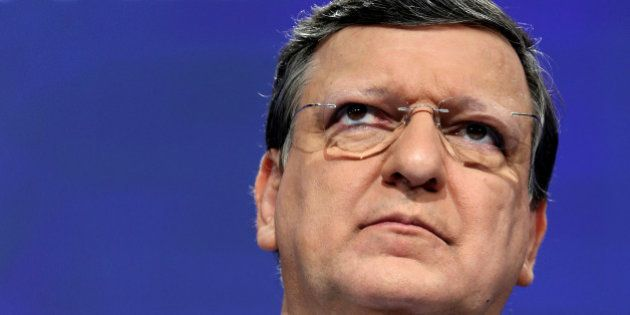 European Commission President Jose Manuel Barroso addresses a news conference at the EU Commission headquarters...