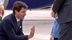 Le prince George ne voulait vraiment pas taper dans la main de Justin