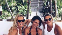 Estelle Lefebure en vacances avec Alessandra Sublet sous le soleil de