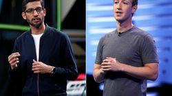 Les patrons de Google et Facebook montent au créneau contre le décret de