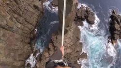 À 32 mètres sur un fil au-dessus de