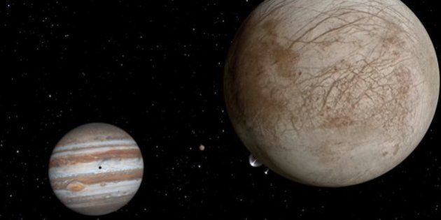 La Nasa a découvert des gerbes d'eau sur Europe, le satellite de