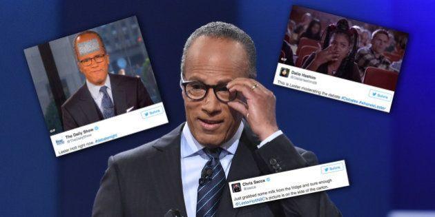 Les internautes n'ont pas raté Lester Holt, le modérateur du débat entre Donald Trump et Hillary