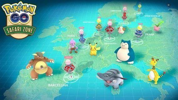 La carte des événements Pokémon Go en
