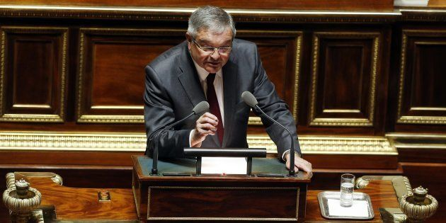 Michel Mercier à la tribune du Sénat en mars