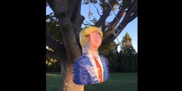 Madonna a donné une piñata à l'effigie de Donald Trump à son fils David