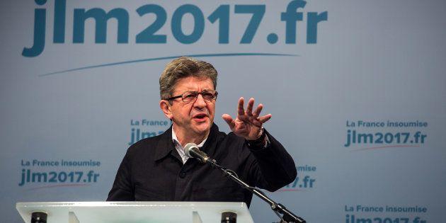 Jean-Luc Mélenchon, candidat à l'élection présidentielle de la France