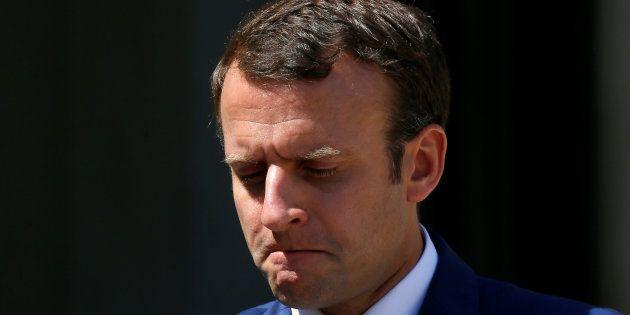 Emmanuel Macron à l'Élysée le 18 juillet à