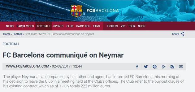 Neymar au PSG: le Brésilien a annoncé son départ à ses coéquipiers du Barça, qui lui