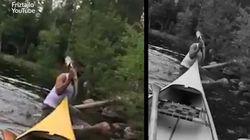Ce pêcheur suédois était prêt à tout pour attraper sa