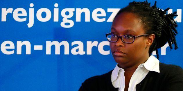 Sibeth Ndiaye lors d'une conférence de presse le 8 mai à