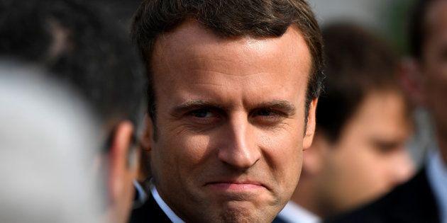 Emmanuel Macron à la cérémonie en hommage à Jacques