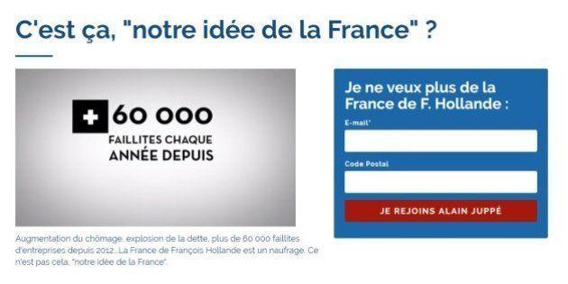 Quand les soutiens d'Alain Juppé moquent le site de soutien de François
