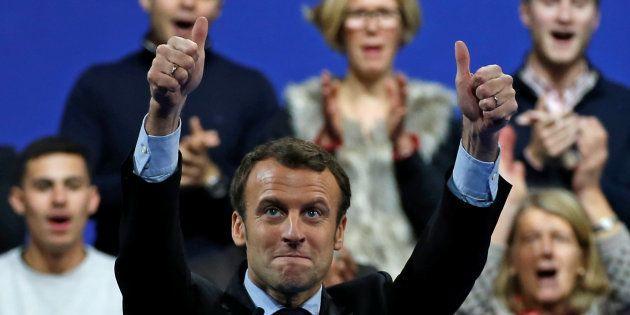 Emmanuel Macron, lors de son meeting à Lille le 14