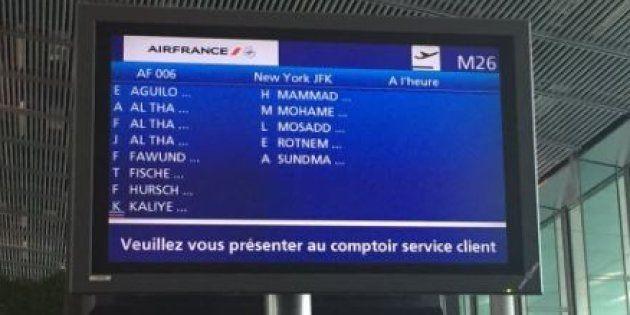 Air France nous l'affirme, cette photo ultra partagée n'a rien à voir avec le décret anti-immigration...