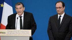 Hollande inaugure la nouvelle imprimerie de