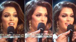 L'interprète d'Iris Mittenaere au concours de Miss Univers ne l'a pas