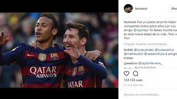 Messi souhaite à Neymar