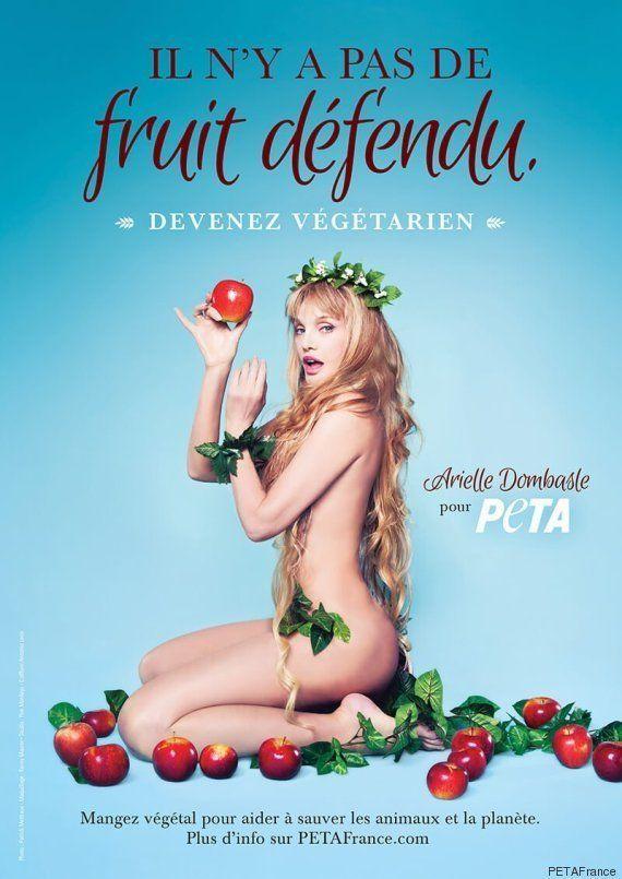 Arielle Dombasle nue pour promouvoir le végétarisme et l'association