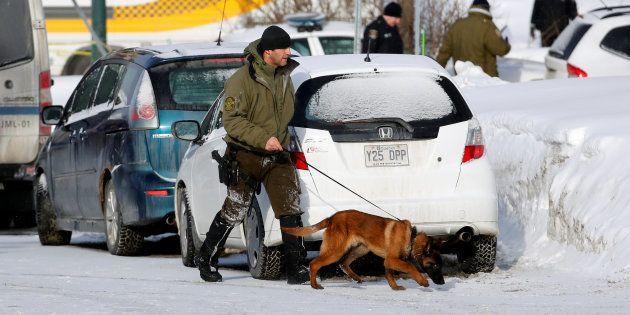 Québec après la fusillade ce lundi 30 janvier. REUTERS/Mathieu