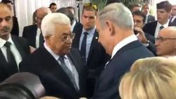 Netanyahu et Abbas se sont serrés la main (et cette fois personne n'a gâché la