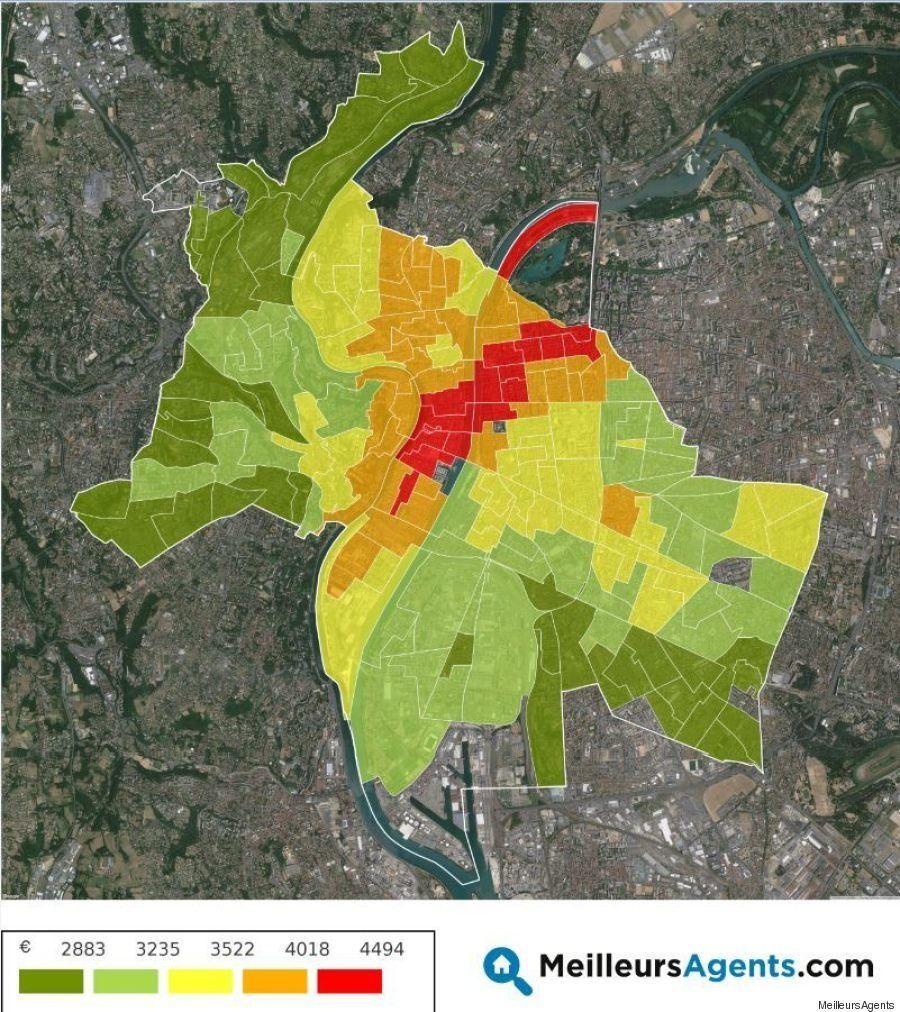 La carte des prix de l'immobilier à Lyon (et dans dix autres grandes