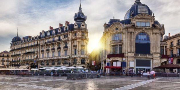 The place de la comédie in Montpellier with