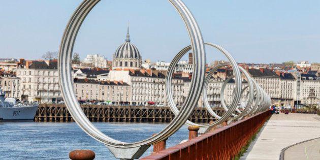The Rings by Daniel Buren and Patrick Bouchain, at Nantes, Loire Atlantique,