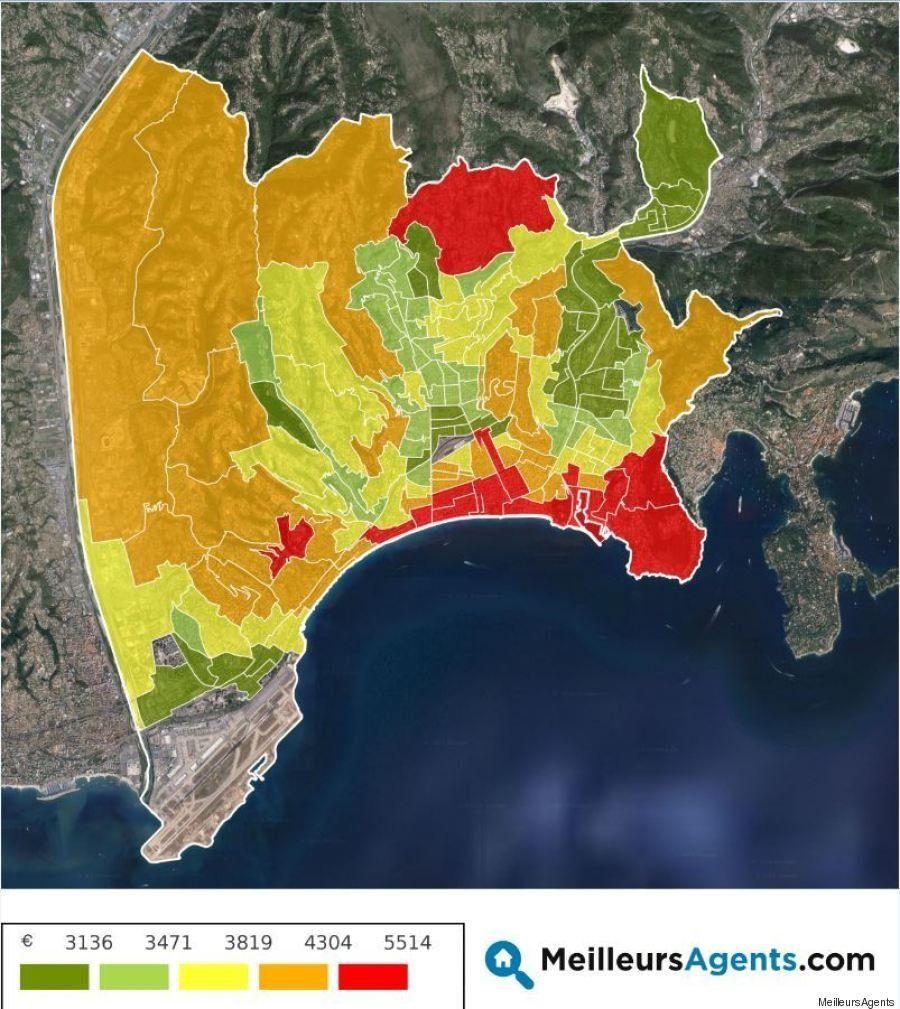30/09/2016: La carte des prix de l'immobilier à Nice (et dans dix autres grandes villes)
