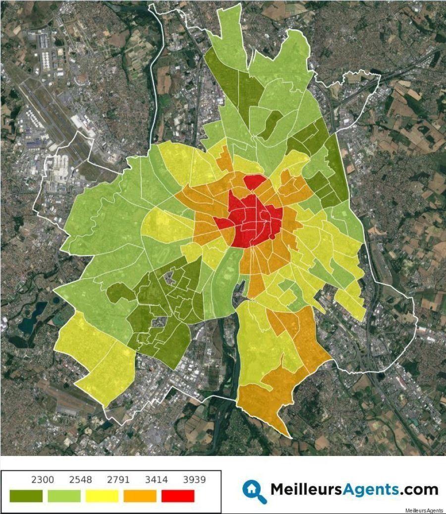 La carte des prix de l'immobilier à Toulouse (et dans dix autres grandes