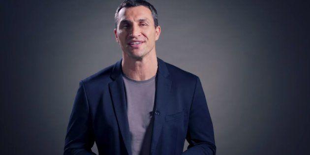 Le boxeur Wladimir Klitschko prend sa