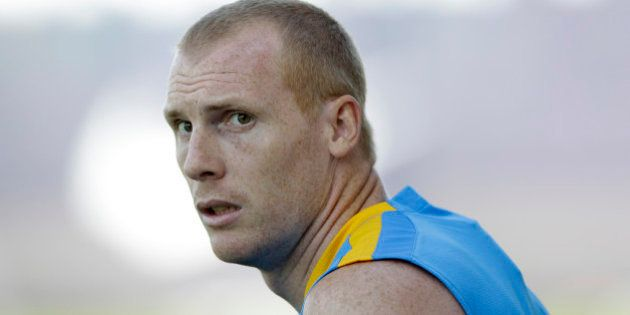FC Barcelona's Jeremy Mathieu, from France, looks on during the first training session of the 2015-2016...