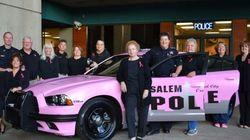 Si cette voiture de police est rose, c'est pour la bonne