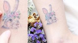 Ces délicats tatouages aux couleurs pastel vont vous faire