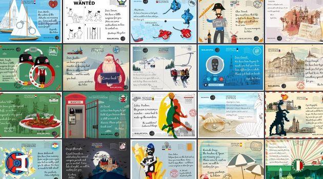 Europol crée des cartes postales personnalisées pour retrouver les criminels les plus recherchés