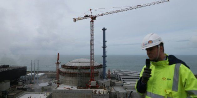 Director of the construction site of the third European generation Pressurized Water Reactor (EPR) Antoine...