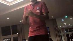 Neymar a eu droit à un bizutage en chanson pour son arrivée au