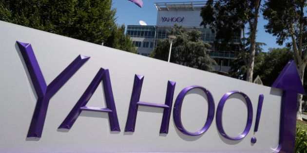 A Yahoo sign is seen at the company's headquarters Tuesday, July 19, 2016, in Sunnyvale, Calif. (AP Photo/Marcio...