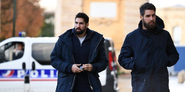 Nikola et Luka Karabatic à Montpellier le 24 novembre