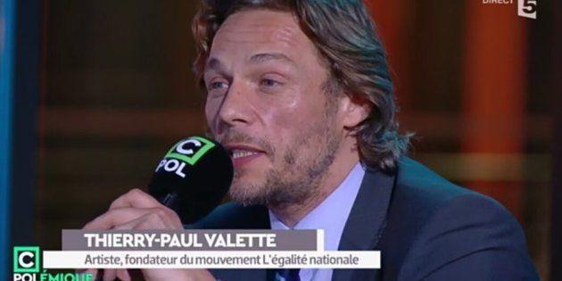 André Paul Valette, dans le public de C Polémique sur France