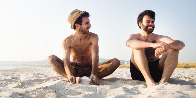 À la plage, les hommes aussi vivent (mal) l'épreuve du maillot de bain (Photo d'illustration)