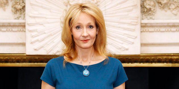 J.K. Rowling à Londres le 8 mai