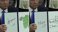 Ce compte Twitter fait passer les décrets de Trump pour des dessins